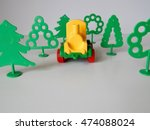 toy train among plastic trees  | Shutterstock . vector #474088024