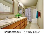 long double sink bathroom... | Shutterstock . vector #474091210