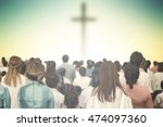 christians prayed together... | Shutterstock . vector #474097360