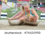 Small photo of KAPFENBERG, AUSTRIA - AUGUST 8, 2015: Sarah Lagger (#280 Austria) participates in the national track and field championship.
