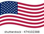 waving american flag. vector... | Shutterstock .eps vector #474102388