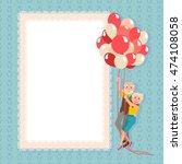 postcard happy grandparents day.... | Shutterstock .eps vector #474108058