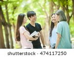 group of happy college students ... | Shutterstock . vector #474117250