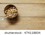 homemade oatmeal granola in... | Shutterstock . vector #474118834