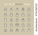 set of solid people icons.... | Shutterstock .eps vector #474136510