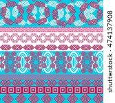 tribal seamless pattern.... | Shutterstock .eps vector #474137908