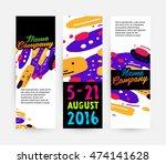 banners set  trendy geometric... | Shutterstock .eps vector #474141628