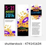 banners set  trendy geometric... | Shutterstock .eps vector #474141634
