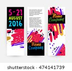 banners set  trendy geometric... | Shutterstock .eps vector #474141739