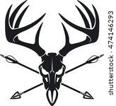 whitetail buck skull with... | Shutterstock .eps vector #474146293