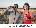 fitness sport running couple... | Shutterstock . vector #474152419