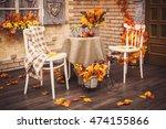 A Cozy Patio. Autumn Leaves...