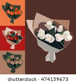 bouquets of roses | Shutterstock .eps vector #474159673