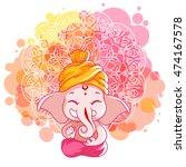 greeting card for ganesh... | Shutterstock .eps vector #474167578
