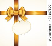 golden gift bows with ribbons... | Shutterstock .eps vector #474167800