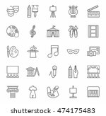 art   culture  icons ... | Shutterstock .eps vector #474175483