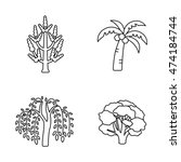 trees vector icons | Shutterstock .eps vector #474184744