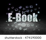 learning concept  glowing text... | Shutterstock . vector #474190000