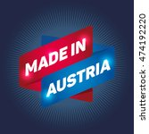made in austria arrow tag sign. | Shutterstock .eps vector #474192220
