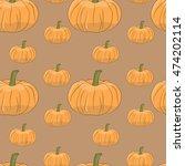 vector seamless pattern.... | Shutterstock .eps vector #474202114