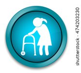 elderly woman icon. old people... | Shutterstock .eps vector #474203230