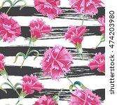 vector seamless carnations...   Shutterstock .eps vector #474203980
