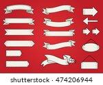 vector set ribbons | Shutterstock .eps vector #474206944