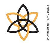 flower of venus  symbol of... | Shutterstock .eps vector #474210016