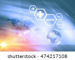 medical abstract background ... | Shutterstock . vector #474217108
