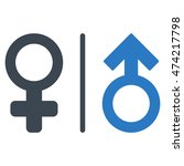 wc gender symbols icon. vector... | Shutterstock .eps vector #474217798