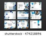 set of brochure  poster design... | Shutterstock .eps vector #474218896
