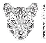 cougar  mountain lion  puma ... | Shutterstock .eps vector #474219556