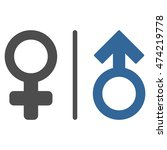 wc gender symbols icon. vector... | Shutterstock .eps vector #474219778