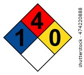 nfpa 704 diamond 1 4 0 0 sign ... | Shutterstock .eps vector #474220888