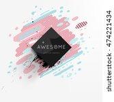 trendy geometric flat pattern ... | Shutterstock .eps vector #474221434