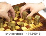 Business chess - stock photo