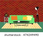 chic modern living room... | Shutterstock .eps vector #474249490