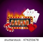 casino games elements isolated... | Shutterstock .eps vector #474253678