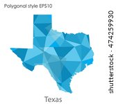 texas state map in geometric... | Shutterstock .eps vector #474259930
