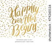 hand drawn save the date... | Shutterstock .eps vector #474260116