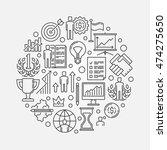 personal development round...   Shutterstock .eps vector #474275650