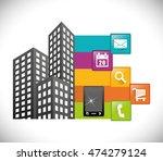 smartphone city buildings...