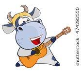 vector illustration of a cute... | Shutterstock .eps vector #474282550