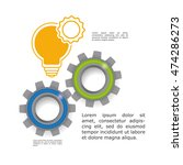 light bulb gears big and great... | Shutterstock .eps vector #474286273
