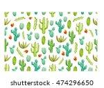 cactus pattern | Shutterstock .eps vector #474296650