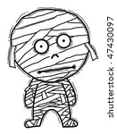 mummy cartoon | Shutterstock .eps vector #47430097
