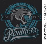"retro ""panthers"" athletic... 