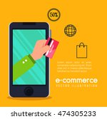 electronic commerce marketing... | Shutterstock .eps vector #474305233
