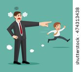 angry boss firing his male... | Shutterstock .eps vector #474313438