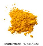 pile of turmeric powder... | Shutterstock . vector #474314323